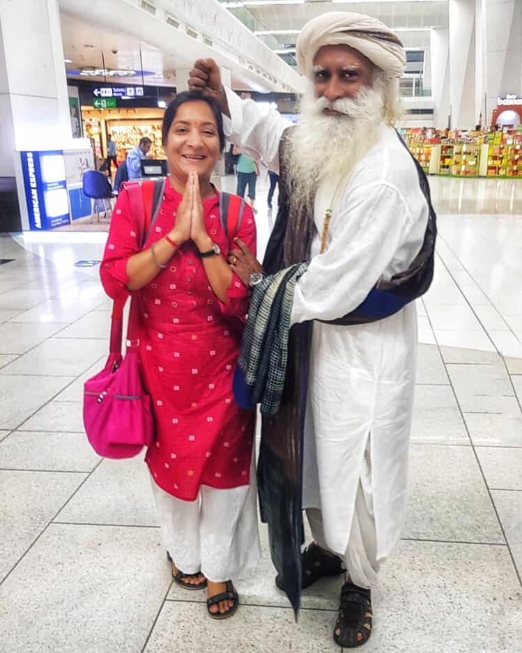 Bhumika with Sadhguru